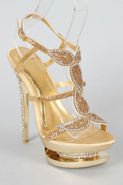 d5c960f4b Nina Belly Acessórios Femininos Importados. Sandália Importada Strass Prata/ Dourada
